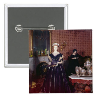 Ball gown of Mary Todd Lincoln 15 Cm Square Badge