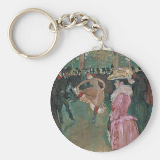 Ball In Rouge   By Toulouse-Lautrec Keychain