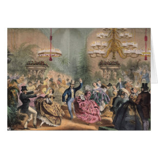 Ball in the Jardin d'Hiver Card
