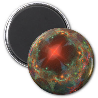Ball in various colors 6 cm round magnet