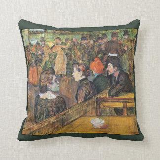 Ball ~ Moulin de la Galette ~1899 Toulouse-Lautrec Cushion