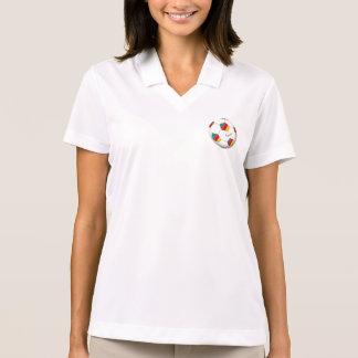 Ball of CAMEROUN SOCCER of national team 2014 Polo Shirts