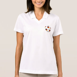 Ball of GERMANY SOCCER national team 2014 Polo Shirts