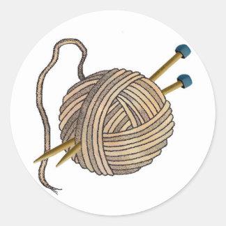 Ball of Knitting Wool Sticker