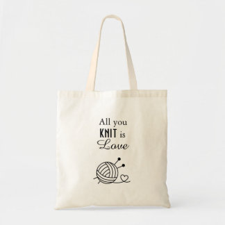 Ball of Knitting Yarn Craft - All You Knit is Love Tote Bag