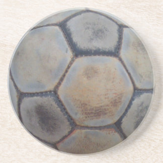 ball of Vntge soccer in Posavasos De Arenisca Coaster