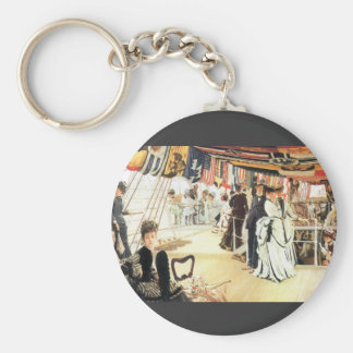 Ball on board by James Tissot Keychain