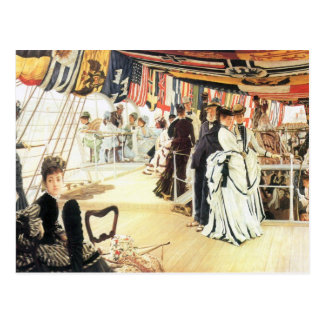 Ball on board by James Tissot Postcard