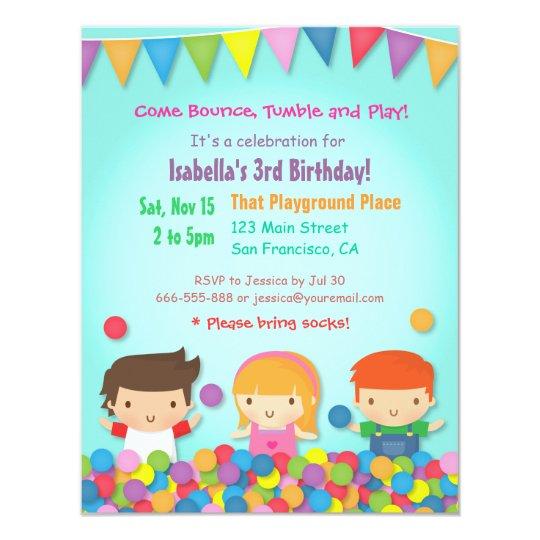 Ball Pit Cute Kids Birthday Party Invitations Zazzlecomau