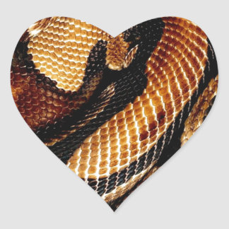 Ball Python Heart Sticker