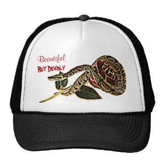 Ball Python Snake Hat Dangerous Beauty