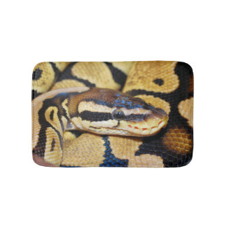 Ball Python, Yellow Belly, Curled up in Ball Bath Mat