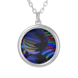 Ball Reflect 3 Silver Plated Necklace