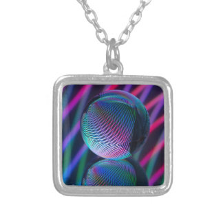 Ball Reflect 4 Silver Plated Necklace