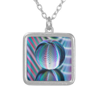 Ball Reflect 5 Silver Plated Necklace