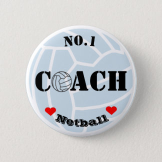 Ball Themed Netball Coach Pin Badge