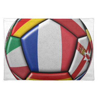 Ball with various flags placemat