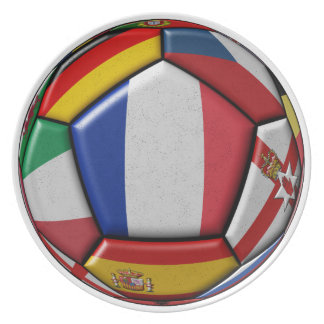Ball with various flags plate