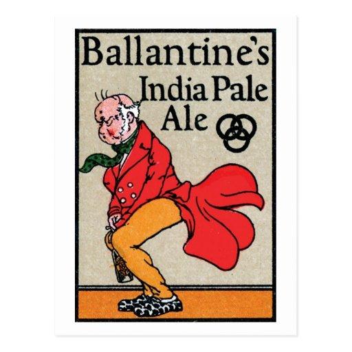Ballantine India Pale Ale Post Card