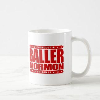 BALLER MORMON - Latter-Day Saint Church Gangster Basic White Mug