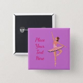 Ballerina 15 Cm Square Badge