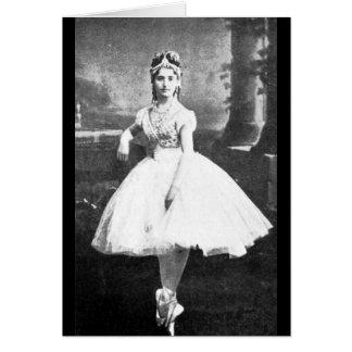 Ballerina, 1870. card