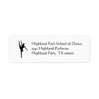 Ballerina Address Labels