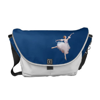 Ballerina and Castanets Customizable Messenger Bab Commuter Bag