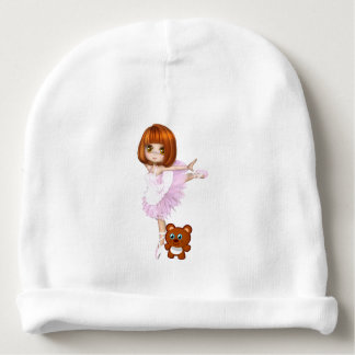 Ballerina and Teddy Bear Baby Beanie