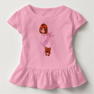 Ballerina and Teddy Bear Toddler T-Shirt