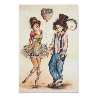 Ballerina and the Clown Poster