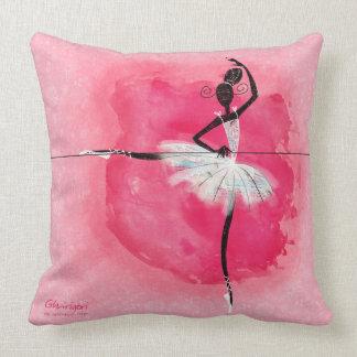 Ballerina at the barre pillow
