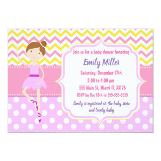 Ballerina Baby Shower Invitation