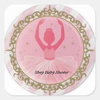 Ballerina Baby Shower Sticker