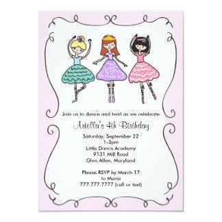Ballerina Ballet Birthday Party 11 Cm X 16 Cm Invitation Card