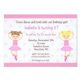 Ballerina Ballet Dance BIrthday Invitations