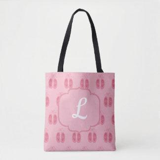 Ballerina Ballet Dancer Pink Toe Shoes Dance Tote Bag
