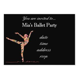 Ballerina ballet girl party 13 cm x 18 cm invitation card