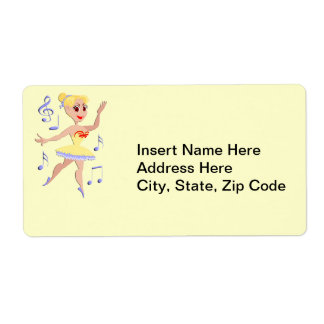 Ballerina Ballet Music Shipping Label