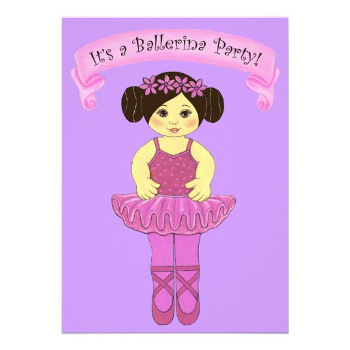 Ballerina / Ballet Party Invitations