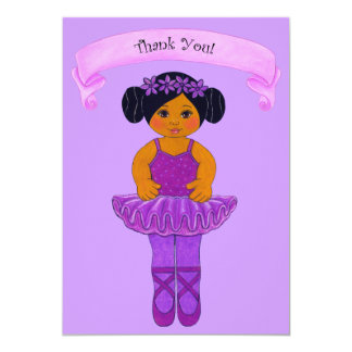 Ballerina / Ballet Party Thank You Cards 13 Cm X 18 Cm Invitation Card