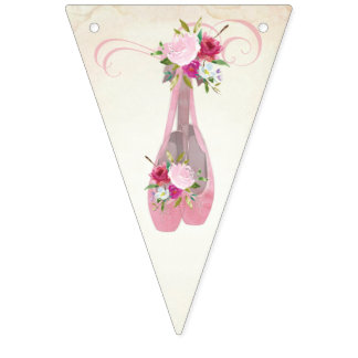 Ballerina Birthday Bunting Flags