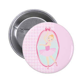 Ballerina birthday party 6 cm round badge