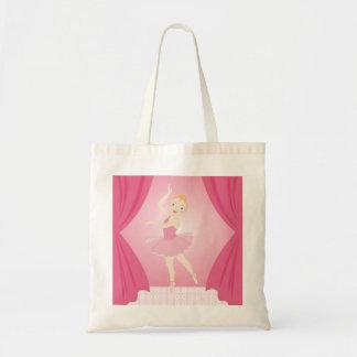 Ballerina birthday party budget tote bag