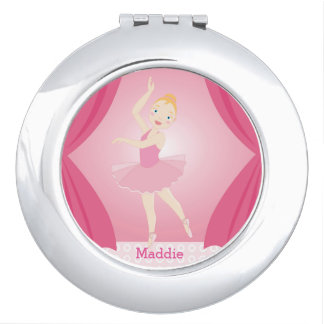 Ballerina birthday party mirrors for makeup