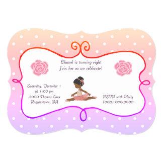 Ballerina Birthday polka dot Card