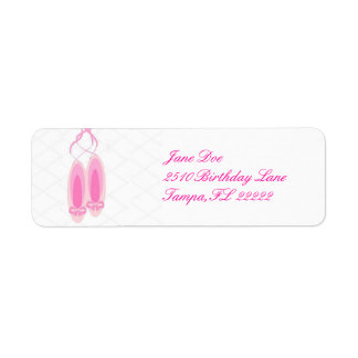 Ballerina Birthday Return Address Label