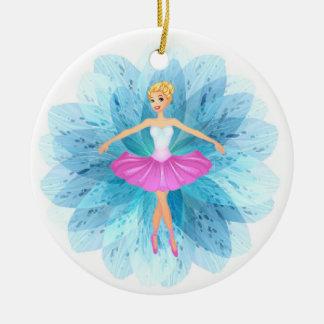 Ballerina Ceramic Ornament