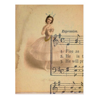 Ballerina Collage Postcard