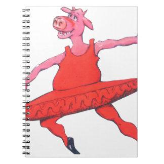 Ballerina Cow Spiral Notebook